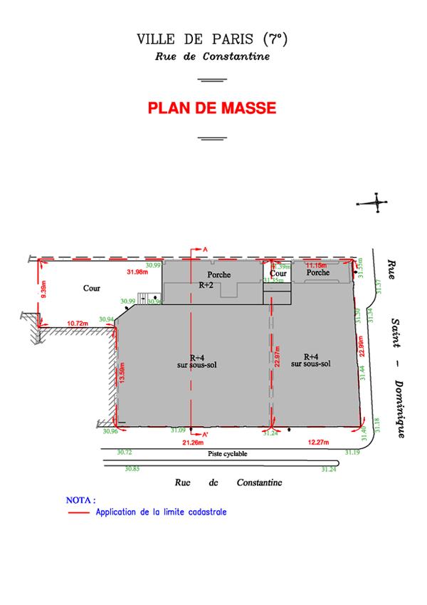 Plan de masse cabinet roseau associ s - Plan de masse maison individuelle ...